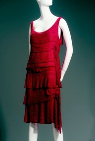 "Gabrielle ""Coco"" Chanel (French, 1883-1971). Dress, 1925, crystal beads on silk chiffon. Collection of Phoenix Art Museum, gifts of Mrs. Wesson Seyburn. Photographs by Ken Howie."