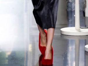 Celine Paris Spring Fashion for 2013 Fur Pumps Red