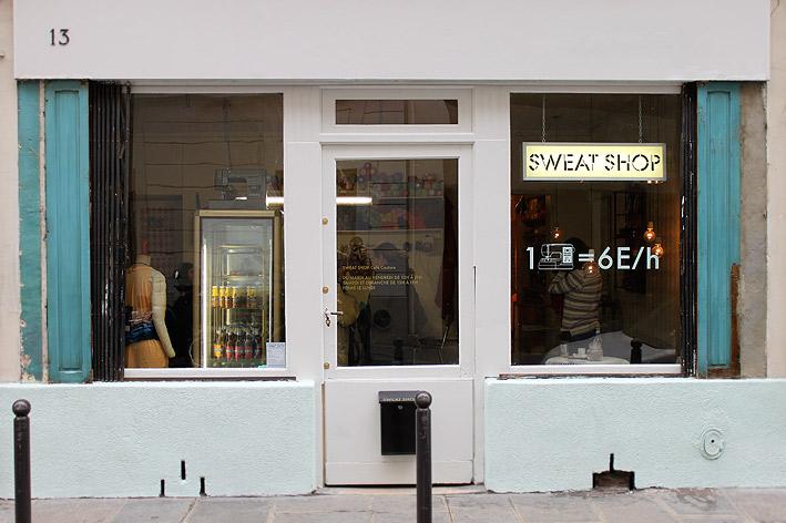 Front window of Sweat Shop