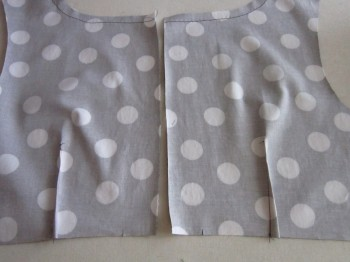 Betsey Dress Bodice Back - RS